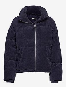 Rose corduroy puffer jacket - NAVY