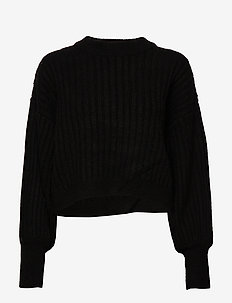 Nikki knitted sweater - BLACK