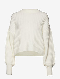 Nikki knitted sweater - WARM WHITE