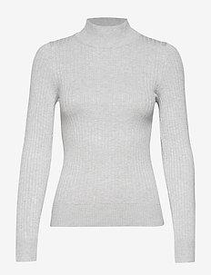 Julia knitted sweater - LT GREYMELANGE