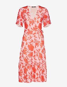 Vicky wrap dress - PINK FLOWER