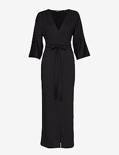 Sofie rib dress - BLACK