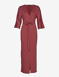 Sofie rib dress - WINE