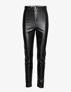 Miranda pu trousers - BLACK