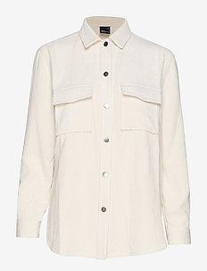 Cory corduroy shirt - WHITE