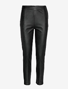 Second Female INDIE TROUSERS - Leren broek - black