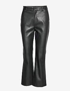 Lisa pu trousers - BLACK
