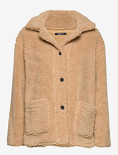 Me teddy jacket - BEIGE