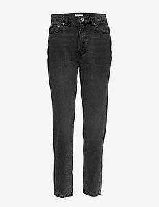 Dagny mom jeans - BLACK/GREY