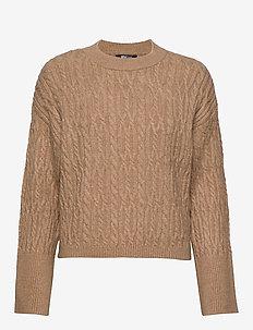Kris knitted sweater - CAMEL BEIGE MEL