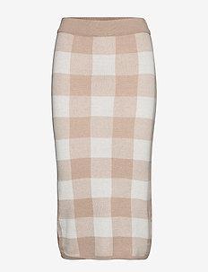 Natalie knitted skirt - OFFWHITE/BEIGE