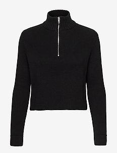 Ingrid knitted sweater - pologenser - black