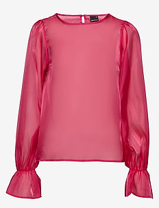 Signe organza blouse - STRONG PINK