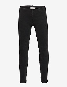 Mini rib leggings - BLACK