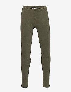 Mini rib leggings - CARGO GREEN