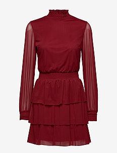 Alice turtleneck dress - WINE