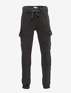 Mini cargo sweatpants - BLACK