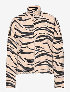 Lisa fleece jacket - BRUSH ZEBRA
