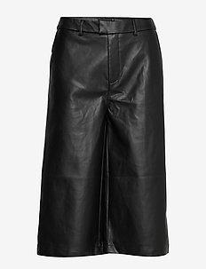 Anne pu culotte trousers - skinnbyxor - black