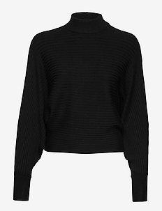 Emmy knitted sweater - tröjor - black