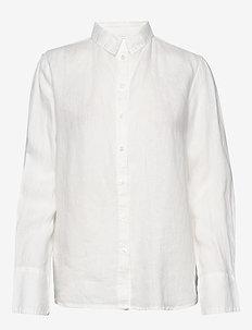 Kimberly linen shirt - långärmade skjortor - offwhite