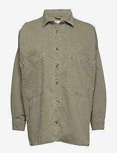 Oversized denim shirt - CARGO GREEN