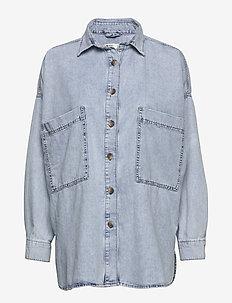 Oversized denim shirt - LT BLUE