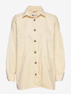 Oversized denim shirt - VANILLA BEIGE