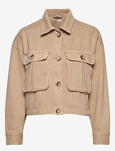 Cargo denim jacket - utility-takit - beige