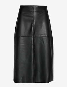 Poppy pu skirt - BLACK
