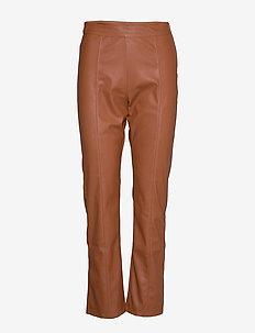 Mindy pu trousers - skinnbyxor - thrush