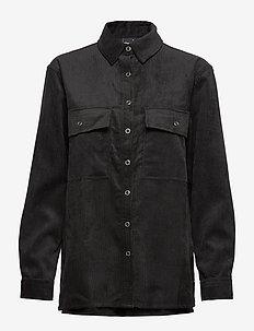 Wellie corduroy shirt - BLACK