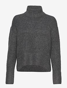 Sandy knitted sweater - pologenser - dk grey melange