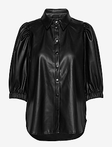 Mila puff sleeve shirt - BLACK