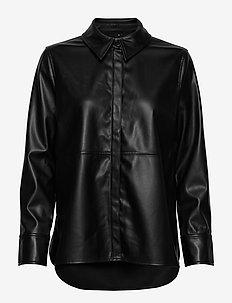 Annie pu shirt - BLACK