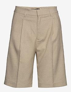 Caroline bermudas shorts - bermudashorts - beige check (7972)