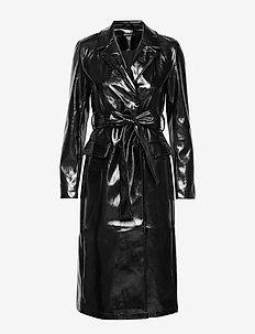 Saga pu coat - BLACK