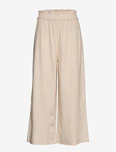Disa linen culotte trousers - lt linen beige (1037)