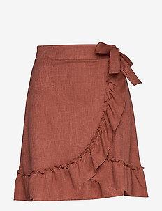 Peg skirt - midi kjolar - basic rose (3881)