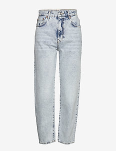 Relaxed mom jeans - mor jeans - lt blue snow