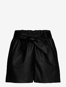 Gaby pu shorts - casual szorty - black (9000)