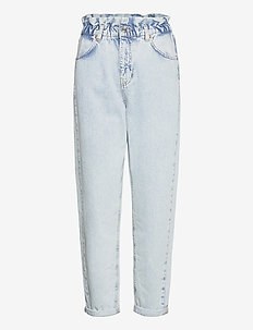 Paperbag mom jeans - boyfriend jeans - bleached blue (5029)