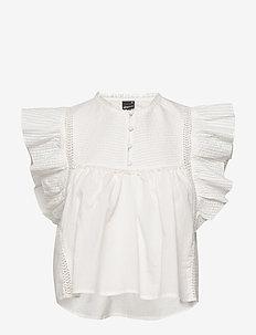 Ava blouse - kortermede bluser - offwhite