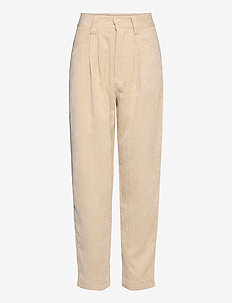 Ebba corduroy trousers - straight leg trousers - oyster gray (7035)