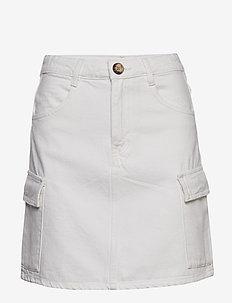 Cargo denim skirt - denimskjørt - offwhite