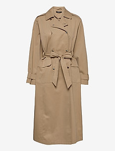 Sally trench coat - trenchcoats - beige (1040)