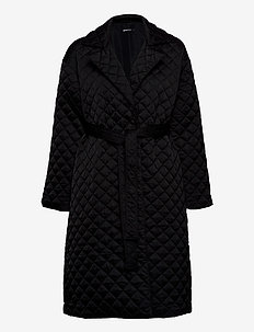 Uma quilted coat - quilted jackets - black (9000)