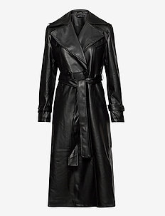 Nora pu coat - skinnjackor - black (9000)