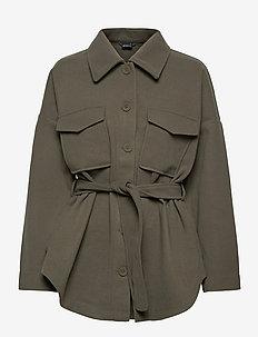 Alexia jacket - wool jackets - khaki green (6074)