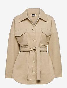 Alexia jacket - overshirts - oyster gray (7035)